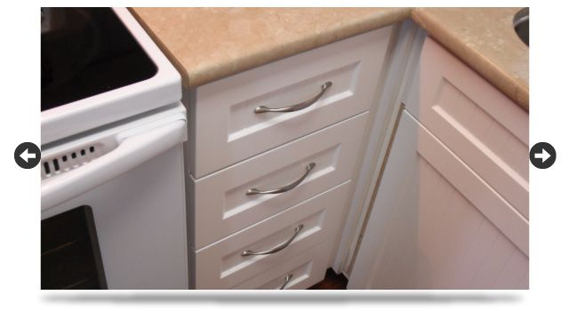 white cabinet drawer