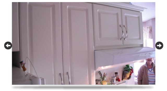 white cabinet closeup